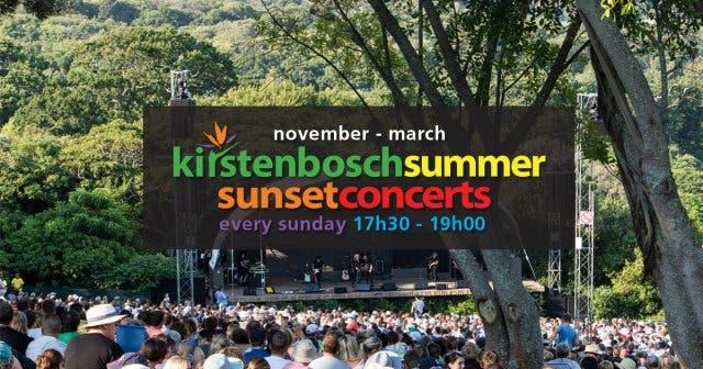 Kirstenbosch Summer Concert Series Line-Up 2018/2019