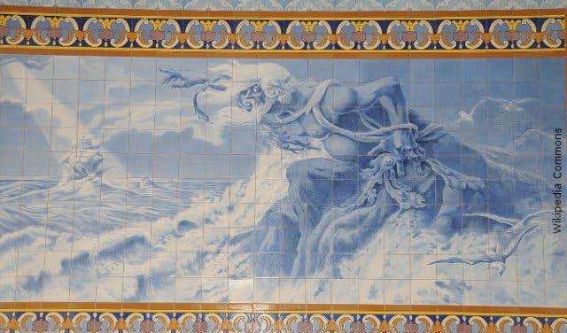 adamastor greek god table mountain