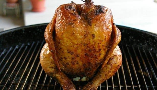 Курица в духовке на гриле целиком рецепт