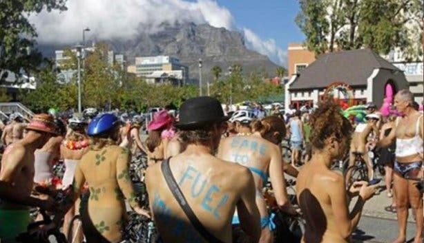 naked girls in bike race